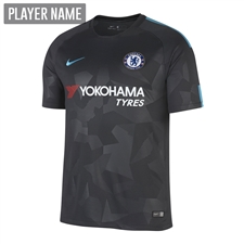 Nike Chelsea Youth Third '17-'18 Soccer Jersey (Anthracite/Omega Blue)