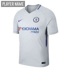 Nike Chelsea Youth Away '17-'18 Soccer Jersey (Pure Platinum/Rush Blue)