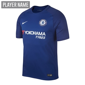 Nike Chelsea Youth Home '17-'18 Soccer Jersey (Rush Blue/White)