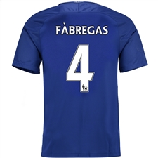 Nike Chelsea Youth 'FABREGAS 4' Home '17-'18 Soccer Jersey (Rush Blue/White)
