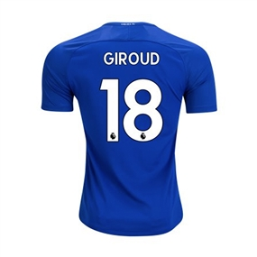 Nike Chelsea Youth 'GIROUD 18' Home '17-'18 Soccer Jersey (Rush Blue/White)