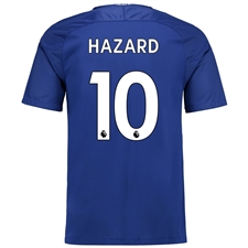 Nike Chelsea Youth 'HAZARD 10' Home '17-'18 Soccer Jersey (Rush Blue/White)