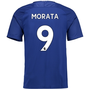 Nike Chelsea Youth 'MORATA 9' Home '17-'18 Soccer Jersey (Rush Blue/White)