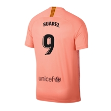 Nike Youth FC Barcelona 'SUAREZ 9' Third Stadium Jersey '18-'19 (Light Atomic Pink/Silver Logo)