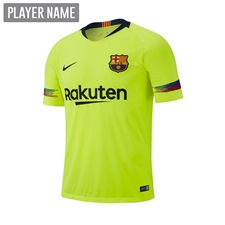 Nike Youth FC Barcelona Away Stadium Jersey '18-'19 (Volt/Deep Royal Blue)