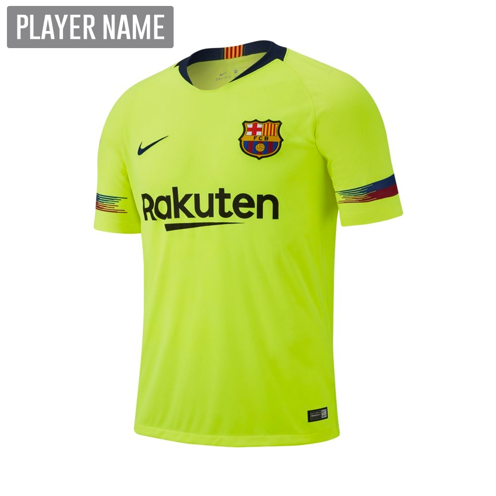 442103fa1e5 Nike Youth FC Barcelona Away Stadium Jersey  18- 19 (Volt Deep Royal ...