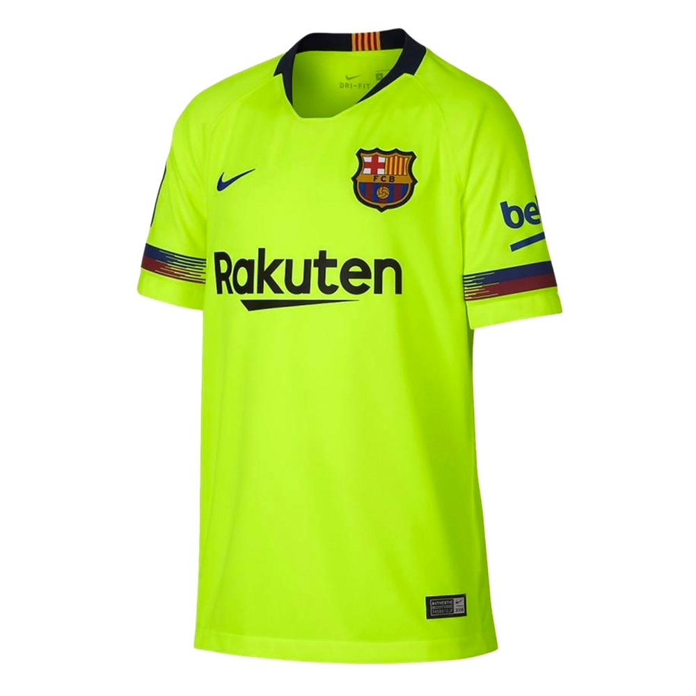 san francisco e605c 32335 Nike Youth FC Barcelona 'COUTINHO 7' Away Stadium Jersey '18-'19 (Volt/Deep  Royal Blue)