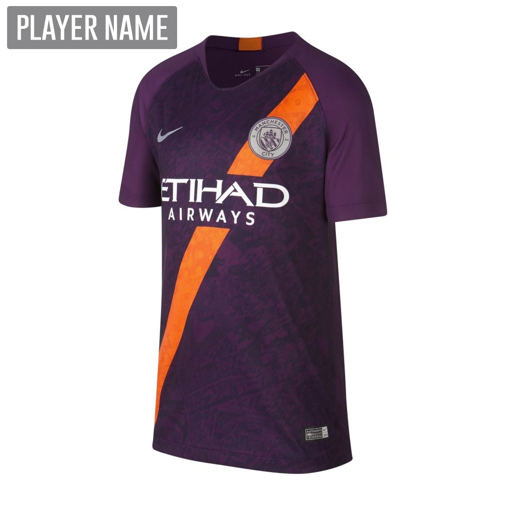 on sale 6ee36 36d01 Nike Youth Manchester City Third Stadium Jersey '18-'19 (Night Purple)