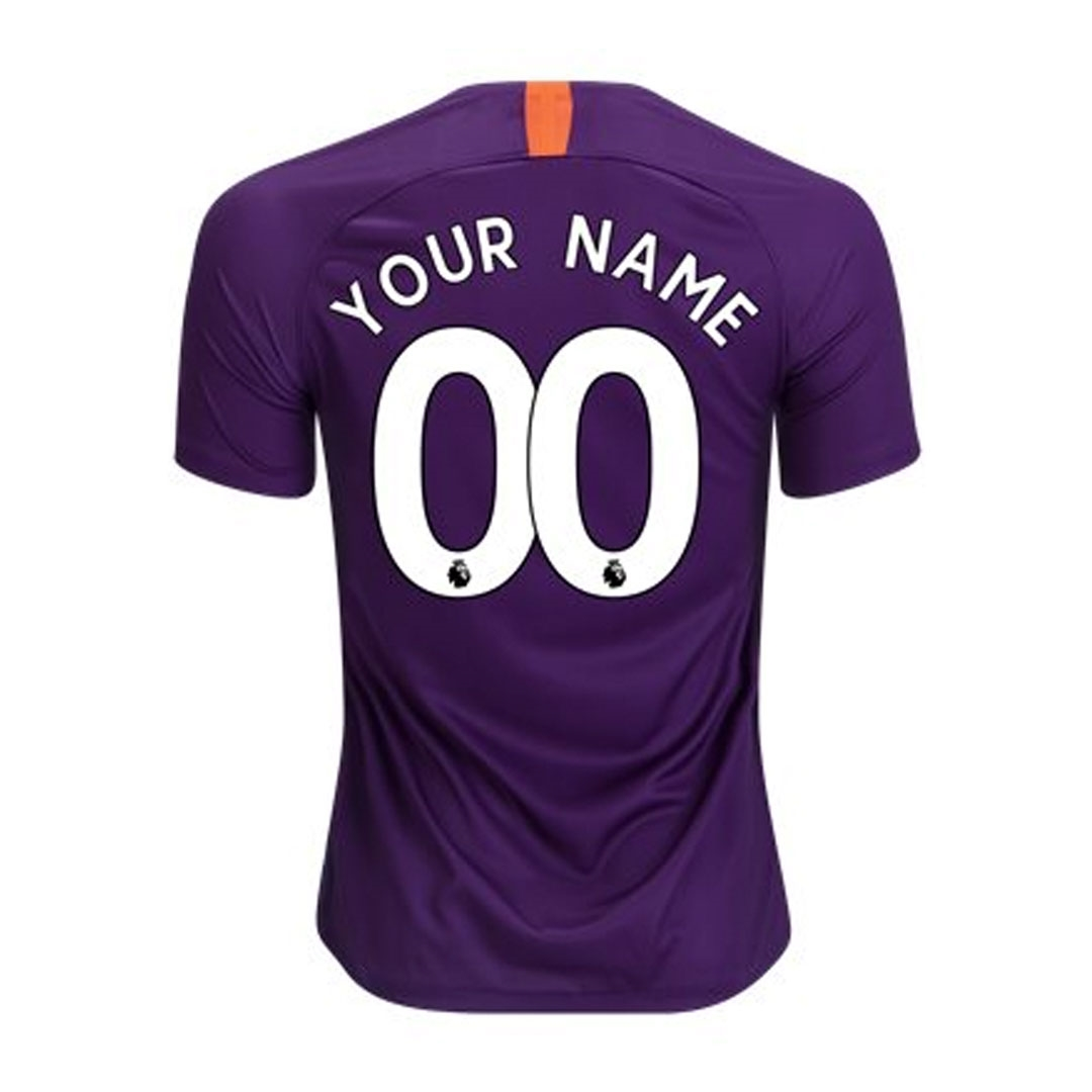 the best attitude f5880 5de17 Nike Youth Manchester City 'CUSTOM' Third Stadium Jersey '18-'19 (Night  Purple)