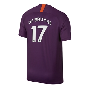 Nike Youth Manchester City 'DE BRUYNE 17' Third Stadium Jersey '18-'19 (Night Purple)