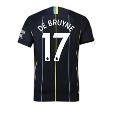 Nike Youth Manchester City 'DE BRUYNE 17' Away Stadium Jersey '18-'19 (Dark Obsidian/White)