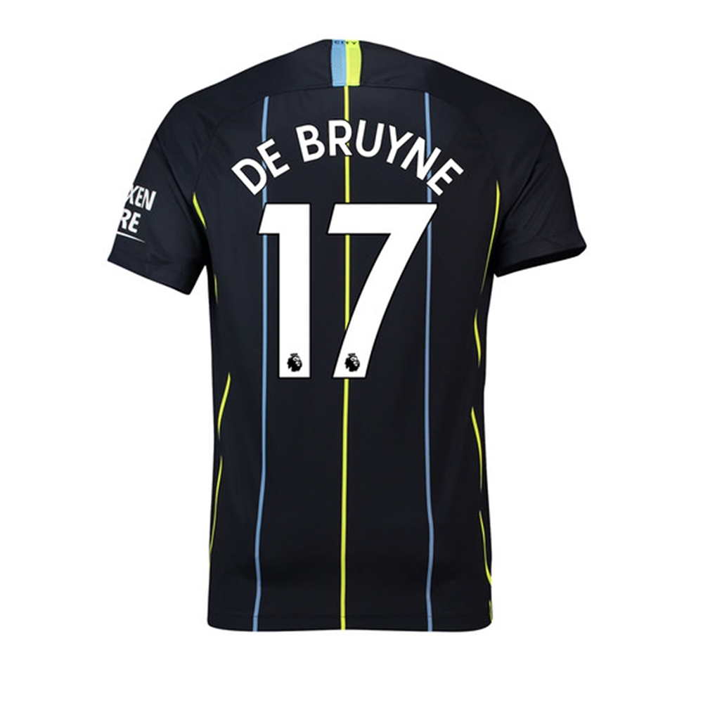 the latest 0d4cb c74a4 Nike Youth Manchester City 'DE BRUYNE 17' Away Stadium Jersey '18-'19 (Dark  Obsidian/White)