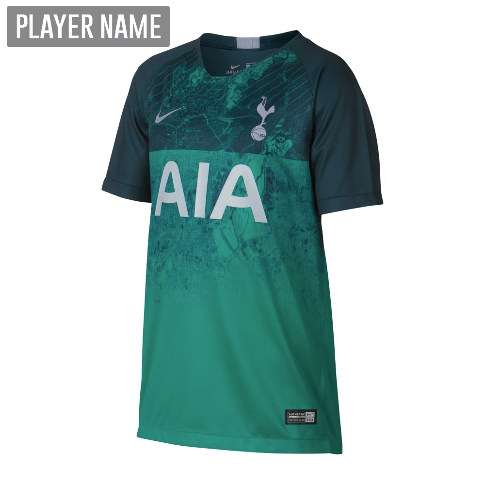 fbe2a92b61d Nike Youth Tottenham Third Stadium Jersey  18- 19 (Neptune Green Armory