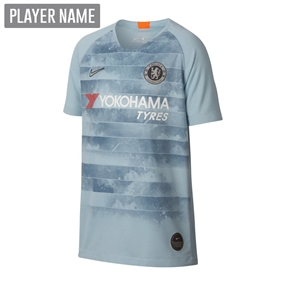Nike Youth Chelsea Third Stadium Jersey '18-'19 (Ocean Bliss/Metallic Silver)