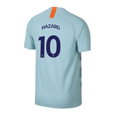 Nike Youth Chelsea 'HAZARD 10' Third Stadium Jersey '18-'19 (Ocean Bliss/Metallic Silver)