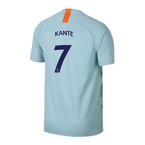 Nike Youth Chelsea 'KANTE 7' Third Stadium Jersey '18-'19 (Ocean Bliss/Metallic Silver)