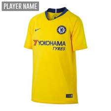 Nike Youth Chelsea Away Stadium Jersey '18-'19 (Tour Yellow/Rush Blue)