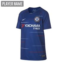 Nike Youth Chelsea Home Stadium Jersey '18-'19 (Rush Blue/White)