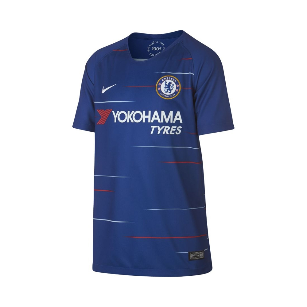 new products 8c361 b0fd1 Nike Youth Chelsea 'KANTE 7' Home Stadium Jersey '18-'19 (Rush Blue/White)