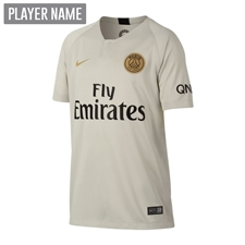 Nike Youth Paris St. Germain Away Stadium Jersey '18-'19 (Light Bone/Truly Gold)