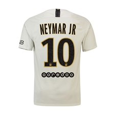 Nike Youth Paris St. Germain 'NEYMAR JR 10' Away Stadium Jersey '18-'19 (Light Bone/Truly Gold)