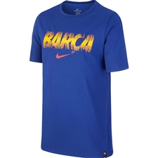 Nike Youth FC Barcelona Dry-FIT T-Shirt (Deep Royal Blue)