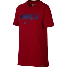 Nike Youth FC Barcelona Dry-FIT T-Shirt (Noble Red)