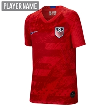 Nike USA Youth 2019 Away Stadium Jersey (Speed Red/Bright Blue)