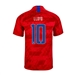 Nike USA 'LLOYD 10' Youth 2019 Away Stadium Jersey (Speed Red/Bright Blue)