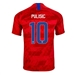 Nike USA 'PULISIC 10' Youth 2019 Away Stadium Jersey (Speed Red/Bright Blue)