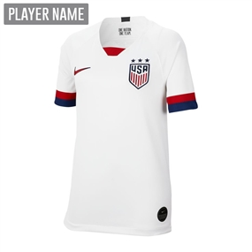 Nike USA Youth 2019 Home Stadium Jersey (White/Blue Void/University Red)