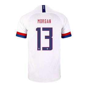 Nike USA 'MORGAN 13' Youth 2019 Home Stadium Jersey (White/Blue Void/University Red)