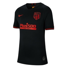 Nike Youth Atletico Madrid Away Stadium Jersey '19-'20 (Black/Challenge Red)