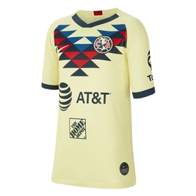 Nike Youth Club America Home Stadium Jersey '19-'20 (Lemon Chiffon/Armory Navy)