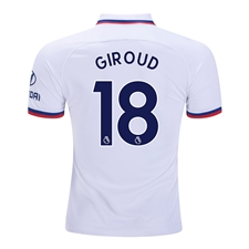 Nike Youth Chelsea 'GIROUD 18' Away Stadium Jersey '19-'20 (White/Rush Blue)