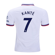 Nike Youth Chelsea 'KANTE 7' Away Stadium Jersey '19-'20 (White/Rush Blue)