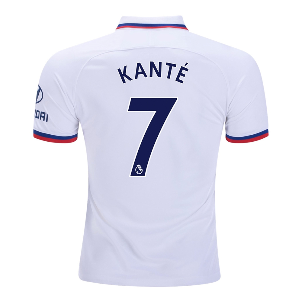 new product 94619 5d999 Nike Youth Chelsea 'KANTE 7' Away Stadium Jersey '19-'20 (White/Rush Blue)