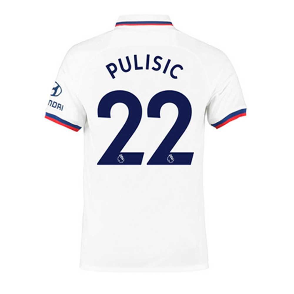 best authentic 7a310 c2117 Nike Youth Chelsea 'PULISIC 22' Away Stadium Jersey '19-'20 (White/Rush  Blue)