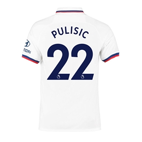 Nike Youth Chelsea 'PULISIC 22' Away Stadium Jersey '19-'20 (White/Rush Blue)