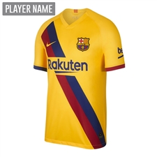 Nike Youth FC Barcelona Away Stadium Jersey '19-'20 (Varsity Maize)