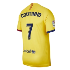 Nike Youth FC Barcelona 'COUTINHO 7' Away Stadium Jersey '19-'20 (Varsity Maize)
