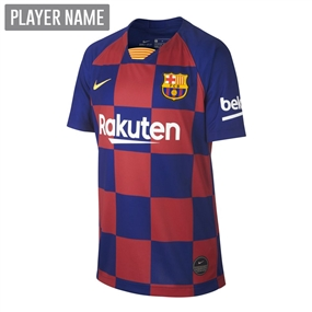 Nike Youth FC Barcelona Home Stadium Jersey '19-'20 (Deep Royal Blue/Varsity Maize)