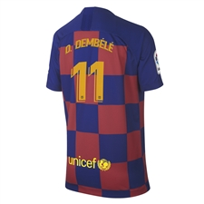 Nike Youth FC Barcelona 'O. DEMBELE 11' Home Stadium Jersey '19-'20 (Deep Royal Blue/Varsity Maize)