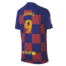 Nike Youth FC Barcelona 'SUAREZ 9' Home Stadium Jersey '19-'20 (Deep Royal Blue/Varsity Maize)