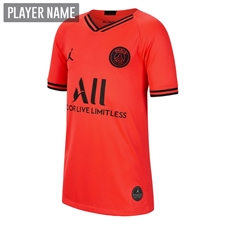 Nike Youth PSG x Jordan Away Stadium Jersey '19-'20 (Infrared 23/Black)