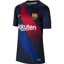 Nike Youth FC Barcelona Training Jersey (Dark Obsidian/Varsity Maize)