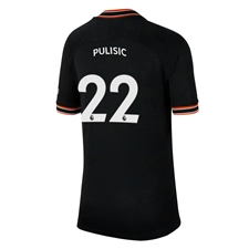Nike Youth Chelsea 'PULISIC 22' Third Stadium Jersey '19-'20 (Black/White)
