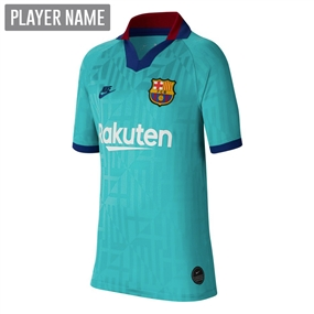 Nike Youth FC Barcelona Third Stadium Jersey '19-'20 (Cabana/Deep Royal Blue)