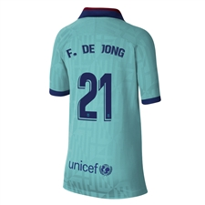 Nike Youth FC Barcelona 'F. DE JONG 21' Third Stadium Jersey '19-'20 (Cabana/Deep Royal Blue)
