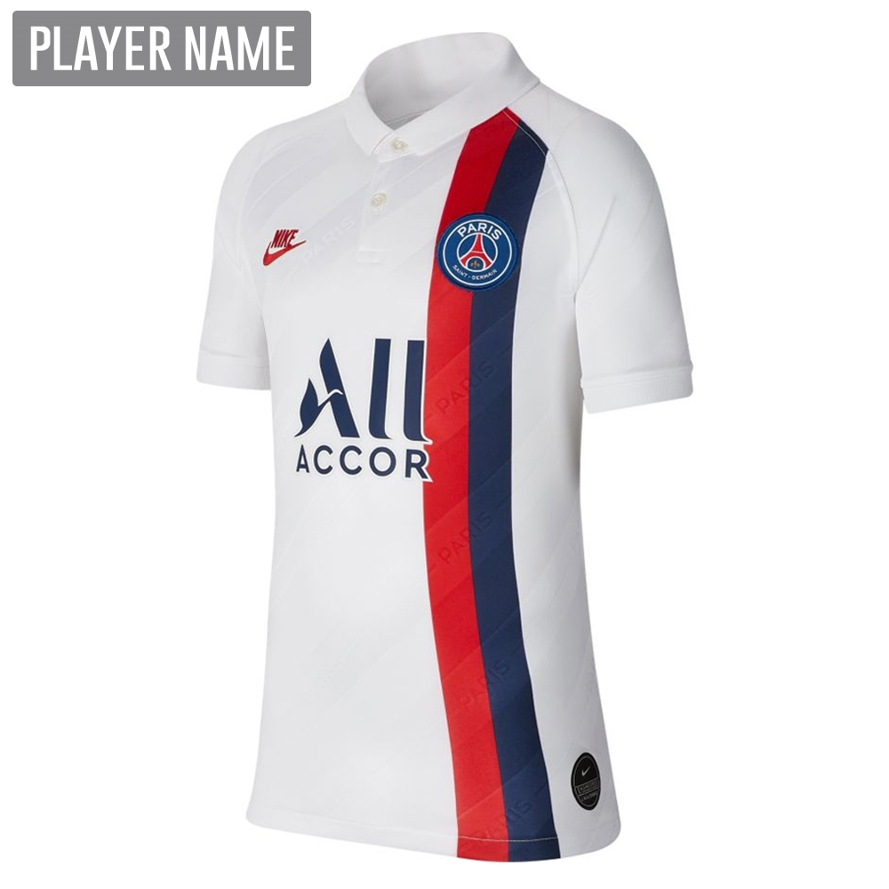 watch 79b03 d9d4f Nike Youth PSG Third Stadium Jersey '19-'20 (White/University Red)